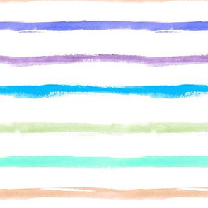 Watercolor colorful stripes for modern nursery