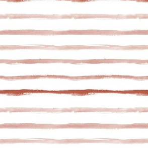 Earthy boho neutral stripes - brown watercolor painted stripes 267