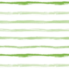 Olive green watercolor stripes ★ painted horizontal stripes for modern scandi home decor, bedding, nursery