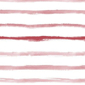 Bordeaux watercolor stripes ★ painted horizontal stripes for modern home decor, bedding, nursery