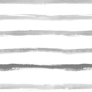 Noir watercolor stripes ★ large scale grey painted brush strokes horizontal stripes for modern scandi minimal home decor, bedding, nursery