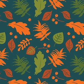 Forest leaves | teal