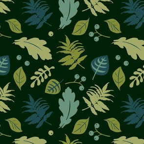 Forest leaves | dark green