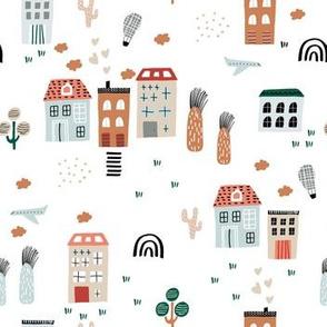 Abstract city life
