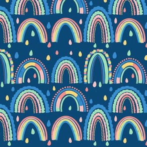 Happy Rainbows - Navy