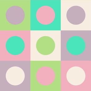 (L)  Spring Morning - Pastel Color Block - Large / Jumbo