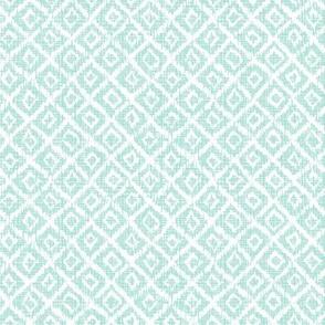 woven Diamonds - Mint