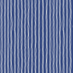 inverted squiggle stripes   small scale in navy