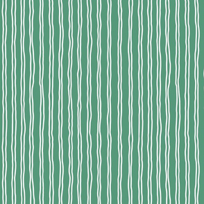 inverted squiggle stripes   small scale in emerald green