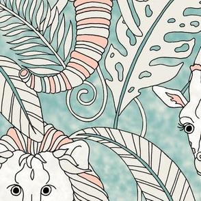 Safari Animals Jumbo - vintage pastels
