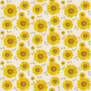 Sunflower pray on off white  small