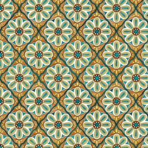 MINI Moroccan tiles - emerald