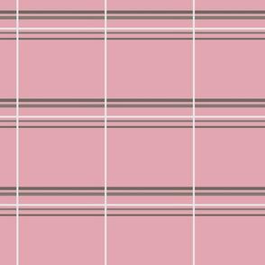 Flower doodle small  pink plaid- jodoin studio