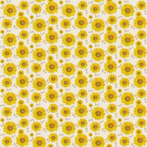 Sunflower pray on off white  xs