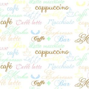 French Italian Coffee Shop Words