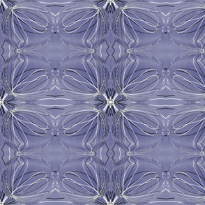 Dusty Blue & White Squiggles   (Larger Print)