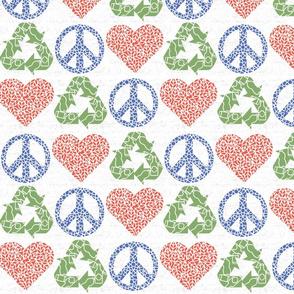 Peace. Love. Recycle. | Multi