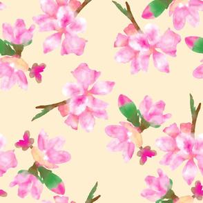 Plum blossoms large