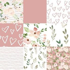 springtime metallic blush quilt - sweet pink