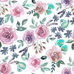 Rosen und Zitronen Falter rosa mint