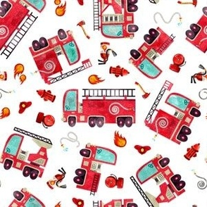 Watercolor Wholecloth Patchwork Cars