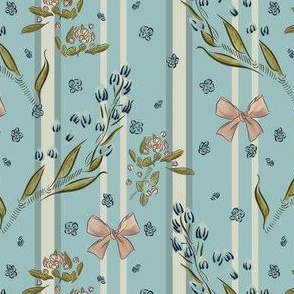 Pastel floral with stripes