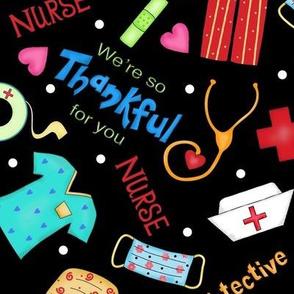Nurse Thankful Black Large