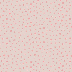 Little spots and speckles panther animal skin abstract minimal dots in soft peach pink gray SMALL