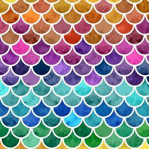 VERTICAL RAINBOW SCALES medium