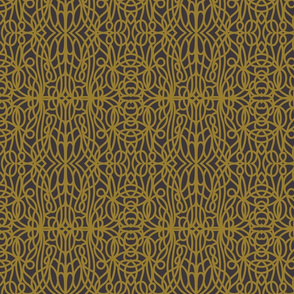 Crewel Threads ~ Gold on Charcoal