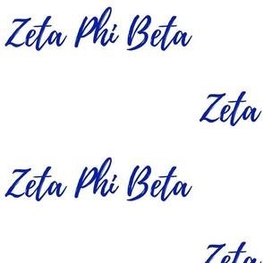Zeta Phi Beta White fabric