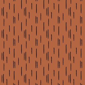 Minimal stripes boho grid strokes scandinavian abstract autumn copper design SMALL
