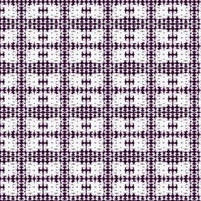 Birchbark- plum on white tile pattern