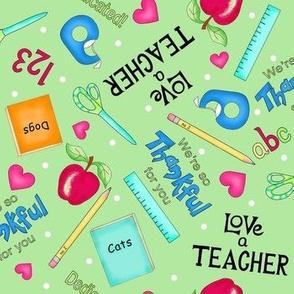 Love a Teacher  Green medium