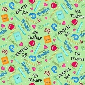 Love a Teacher Blue Green small