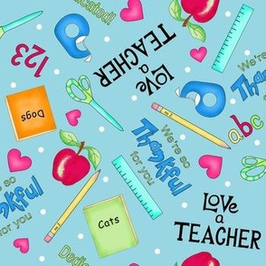 Love a Teacher Lt Blue Medium