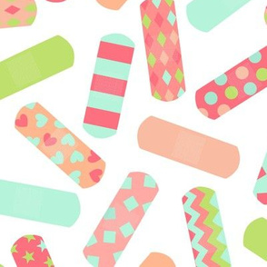 Bandaids - Medium - Mint, Raspberry