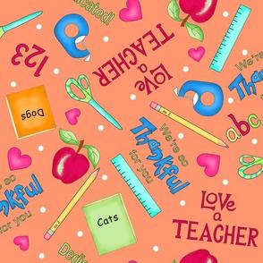 Love a Teacher Orange Medium