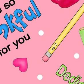 Love a Teacher Pink Large