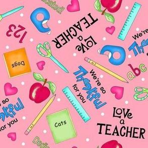 Love a Teacher Pink Medium