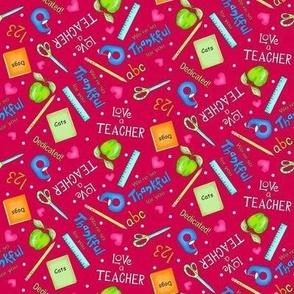 Love a Teacher Red Small