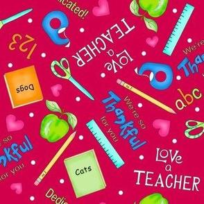 Love a Teacher Red Medium