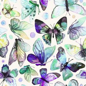 watercolor butterflies  | blue