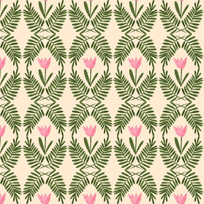 Fern Medallions ~ Soft Pink