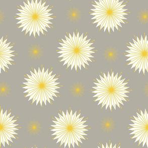 Dreamy Dandelions - Grey