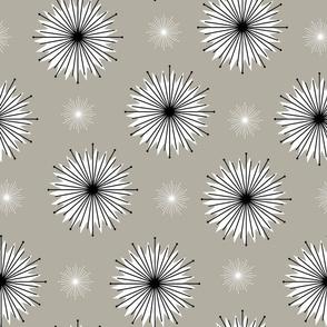 Dreamy Dandelions - Monochrome