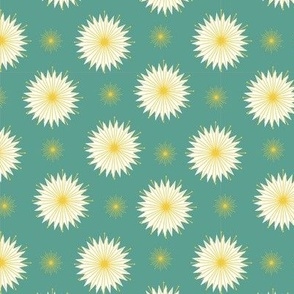 Dreamy Dandelions - Teal Small