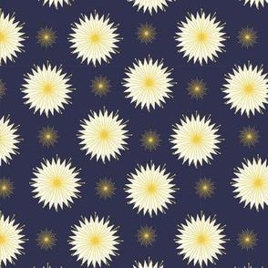 Dreamy Dandelions - Navy Small