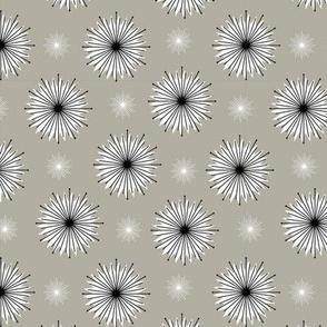 Dreamy Dandelions - Monochrome Small