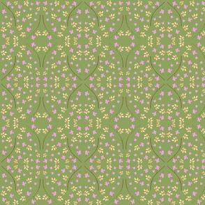 Pastel Garden Mirror Olive
